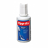 Коректор Tipp-Ex Rapid, течен, с гъбичка, 20 мл
