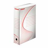 Архивна кутия Esselte 128001, велпапе, 33 х 25 х 8 см, бяла