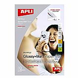 Фотохартия Apli Glossy +Matt doublesaide 10688, А4, 10 листа мат+гланц, 175 г/кв.м ,10 листа