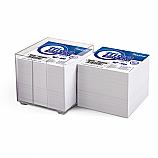 Кубче бяло офсет Forpus, 9 см х 9 см, 800 л, в PVC поставка