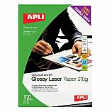 Фотохартия Apli 11833 за лазерен принтер, А4, гланц double side, 210 гр/кв.м, 100 листа