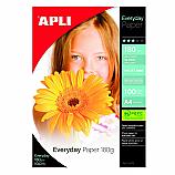 Фотохартия Apli 11475 за мастиленоструен принтер,А4, гланц, 180 г/кв.м, 100 листа
