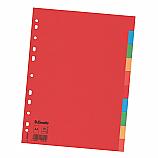 Разделител Esselte картон, А4, 10 теми