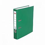 Класьор Delmet, A4, 5 см, РР, сменяем етикет, зелен