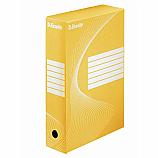 Архивна кутия Esselte 128413, велпапе, 33 х 25 х 8 см, жълта