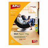 Фотохартия Apli 10418 за мастиленоструен принтер, А4, матирана, двустранна, 170 г/кв.м, 20 листа