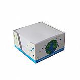 Кубче бяло OfficeMarket ,450 л., 9х9 см, в картонена поставка