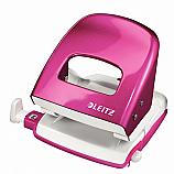 Перфоратор Leitz 5008 Nexxt Series Wow colors, офисен, до 30 л, розов металик