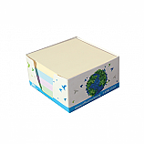 Кубче цветно OfficeMarket, 400 л., 9х9 см, в картонена поставка