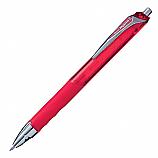 Автоматичен ролер Pentel HiperG KL257, гелово мастило, връх 0.7 мм, червен