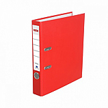 Класьор Delmet, A4, 5 см, РР, сменяем етикет, червен