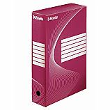 Архивна кутия Esselte 128412, велпапе, 33 х 25 х 8 см, червена