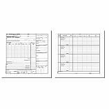 Авансов отчет (валута) блок 1-1462 офсет, офсетова хартия, 100 л