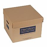 Архивен кашон Хамилтън, петпластово велпапе, 34 х 33 х 24.5 см, кафяв