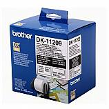 Brother етикети DK-11209 за QL принтери за адреси, бели, 29 мм х 62 мм, 800 бр